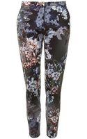 Topshop Floral Print Cigarette Trousers - Lyst