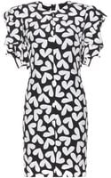 Saint Laurent Printed Silk Dress - Lyst