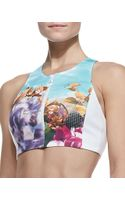 Clover Canyon Pool Flower Frontzip Swim Top - Lyst