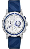 Burberry Silvertone Sapphire Chronograph Watch - Lyst