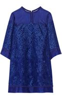 Elie Saab Lace and Organza Mini Dress - Lyst