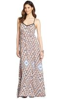Greylin Orangesicle Priscila Silk Maxi Dress - Lyst