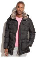 Calvin Klein Hooded Four-pocket Faux-fur-trim Parka - Lyst