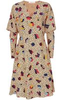 Chloé Geometrie Print Silk Dress - Lyst