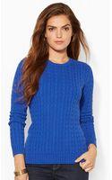Lauren by Ralph Lauren Cable-knit Crewneck Sweater - Lyst