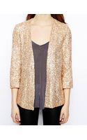 French connection Mini Sequins Jacket - Lyst