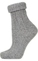 Topshop Rolled Top Chunky Ankle Socks - Lyst