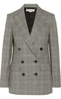 Stella McCartney Prince Of Wales Check Stretchwool Doublebreasted Blazer - Lyst