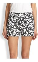 Diane von Furstenberg Naples Floral Laceprint Shorts - Lyst