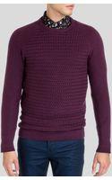 Ted Baker Crewe Basket Stitch Crewneck Sweater - Lyst