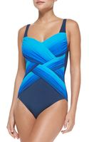 Gottex Harmony Square-neck One-piece Swimsuit - Lyst