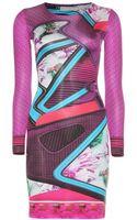 Mary Katrantzou Turkoplus Printed Silk Jersey Dress - Lyst