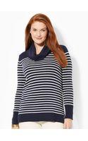 Lauren by Ralph Lauren Wool-blend Cowlneck Sweater - Lyst