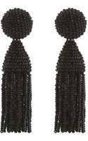 Oscar de la Renta Short Tassel Earrings - Lyst