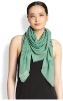 Burberry Floral Devore Scarf - Lyst
