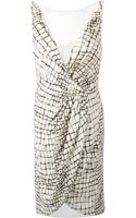 Giambattista Valli Crocodile Print Dress - Lyst