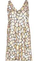 River Island Light Pink Mosaic Sequin Shift Dress - Lyst