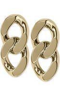 Michael Kors Goldtone Curb Chain Stud Earrings - Lyst
