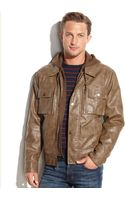 Michael Kors Michael Dallas Hooded Knitbib Faux Leather Jacket - Lyst