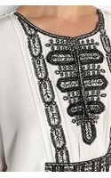 Oscar de la Renta Embroidered Silk Kaftan - Lyst