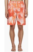 Katie Eary Pink Flamingo Feather Swim Shorts - Lyst