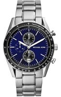 Michael Kors Midsize Silver Color Stainless Steel Accelerator Chronograph Watch - Lyst