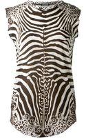 Balmain Black and White Cotton Printed Tshirt - Lyst
