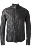 Layer Zero Distressed Funnel Neck Zipped Jacket - Lyst
