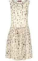 Max Mara Studio Animal Spot Print Drop Waist Sleeveless Dress - Lyst