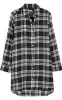 DKNY Plaid Cotton-blend Flannel Nightshirt - Lyst
