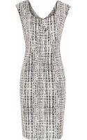 Reiss Garbo Print Print Structured Dress - Lyst