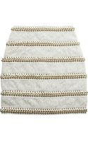 Balmain Chainembellished Lace and Leather Mini Skirt - Lyst