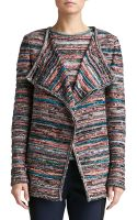 St. John Lockram Space Dye Knit Cardigan - Lyst