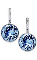 Swarovski Rhodiumplated Light Sapphire Crystal Drop Earrings - Lyst