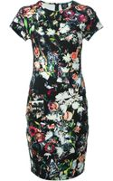 McQ by Alexander McQueen Graphic Floral Print Dress - Lyst