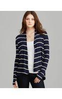 Three Dots Open Stripe Cardigan - Lyst