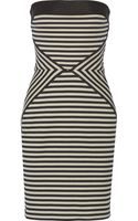 L'Agence Striped Cotton Mini Dress - Lyst