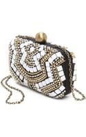 Santi Beaded Box Clutch - Lyst