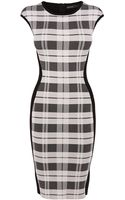 Karen Millen Check Bandage Knit Dress - Lyst