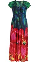 Samya Floral Ink Print Maxi Dress - Lyst