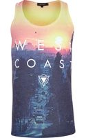 River Island Yellow West Coast Print Vest - Lyst