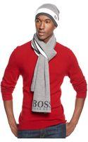 Hugo Boss Green Stripe Scarf - Lyst