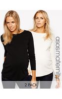 Asos Maternity Crew Neck Top with Long Sleeves 2 Pack Save 11 - Lyst