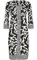 Diane Von Furstenberg Rose Print Tunic Dress - Lyst