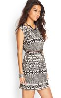 Forever 21 Tribalinspired Fit Flare Dress - Lyst