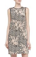 4.collective Floral Scribble Print Silk Dress - Lyst