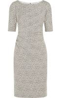 Lela Rose Ruched Cotton-blend Jacquard Dress - Lyst