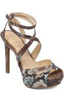 Jessica Simpson Finlay Strappy Platform Sandals - Lyst