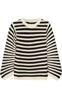 Chloé Striped Texturedwool Sweater - Lyst