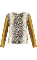 Equipment Shane Snake-print Sweater - Lyst